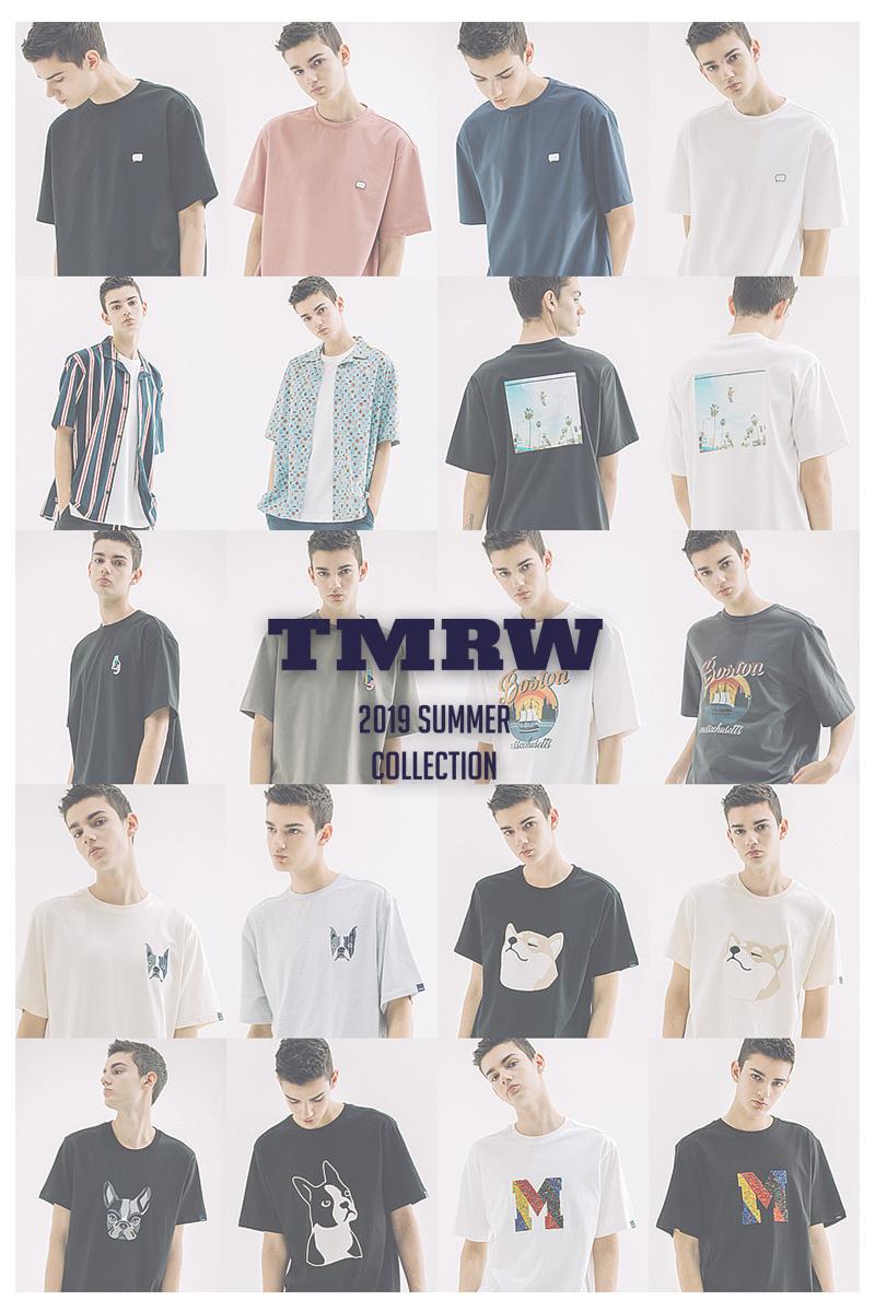 티엠알더블유(TMRW) 멀티 M 패치워크 티셔츠 (BLACK)
