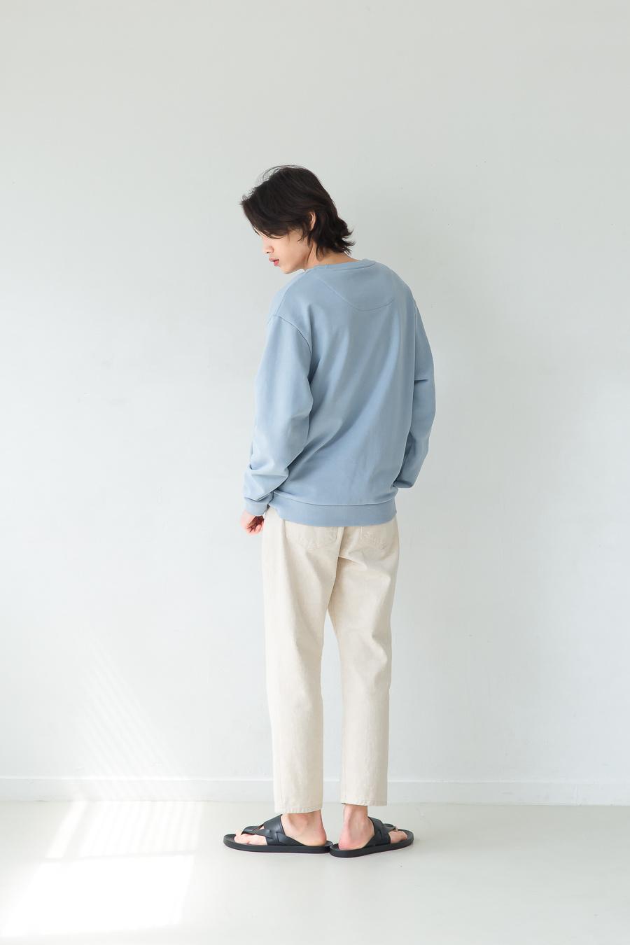 퍼스트플로어(FIRSTFLOOR) EASYGOING CROP PANTS (regular fit  natural color cream jeans)