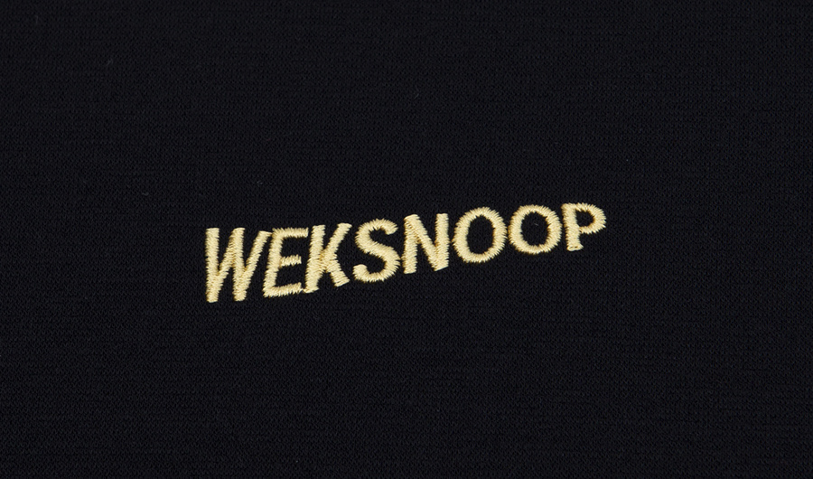 윅스눕(WEKSNOOP) (전체자수)SHOOT MOON OVERFIT T-SHIRT_BLACK