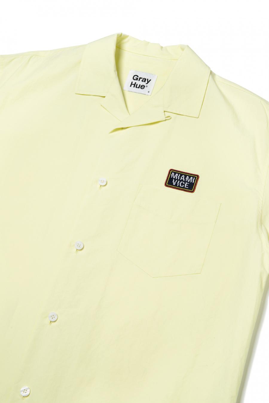 그레이휴(GRAY HUE) Miami Vice Open Collar SSLV Shirt light yellow G9M4S430 31