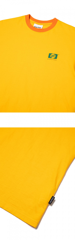 그레이휴(GRAY HUE) gh Parody Logo SSLV TS medium yellow G9M4T545 32