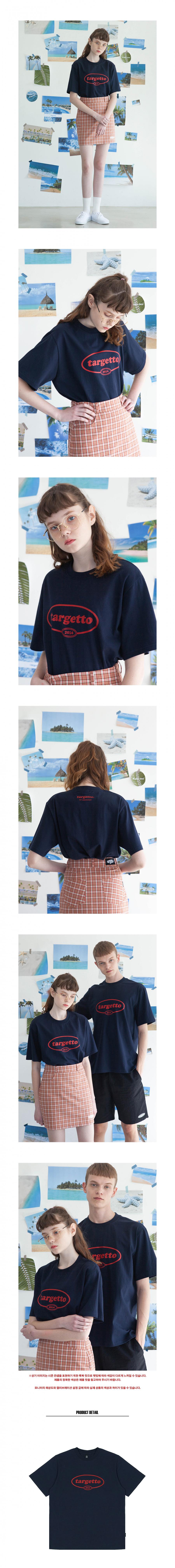 타게토(TARGETTO) 서클 로고 티셔츠 네이비