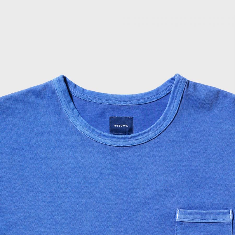 비범스(BEBUMS) 가먼트다이 빈티지 티셔츠 블루