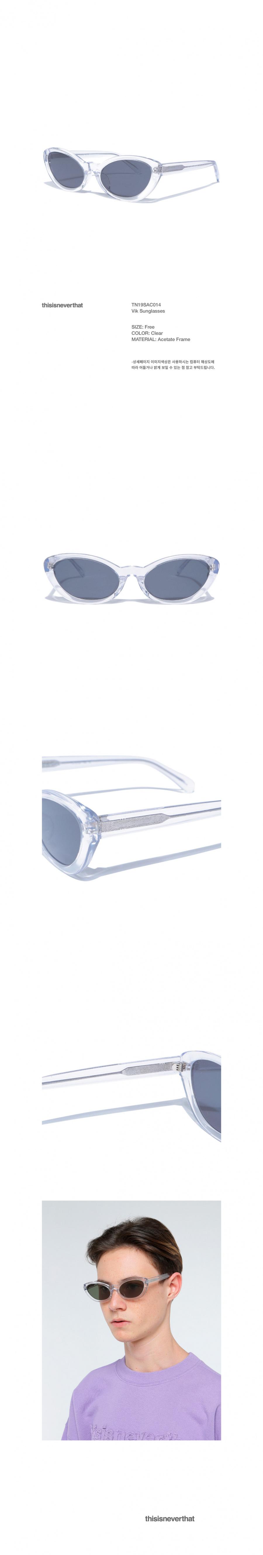 디스이즈네버댓(THISISNEVERTHAT) Vik Sunglasses Clear