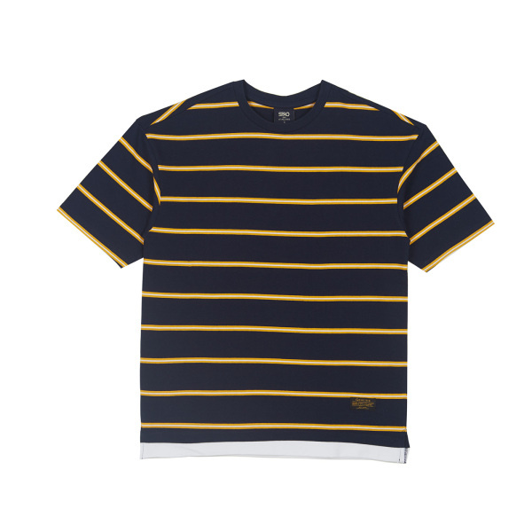 스파오(SPAO) 스트라이프 레이어드 5부 티셔츠_SPRS924C97