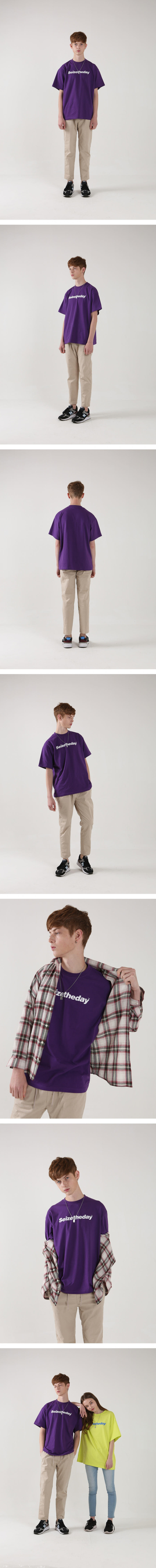 시즈더데이(SEIZETHEDAY) Original T-SHIRT Purple