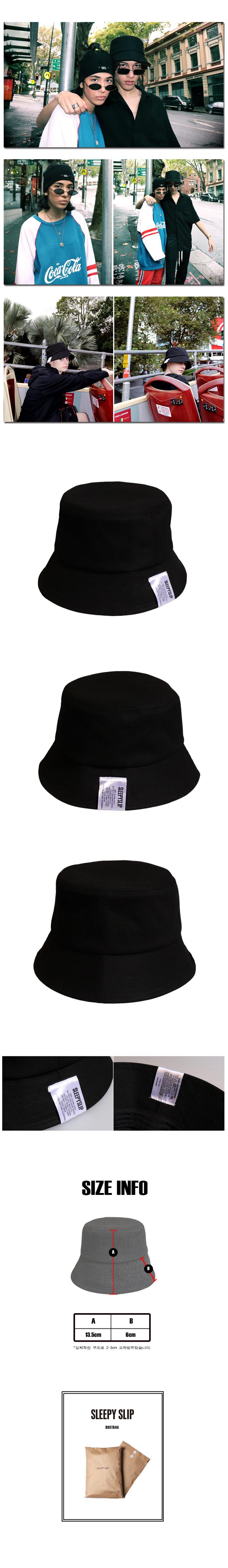 슬리피슬립(SLEEPYSLIP) [unisex]19LABEL BLACK BUCKET HAT