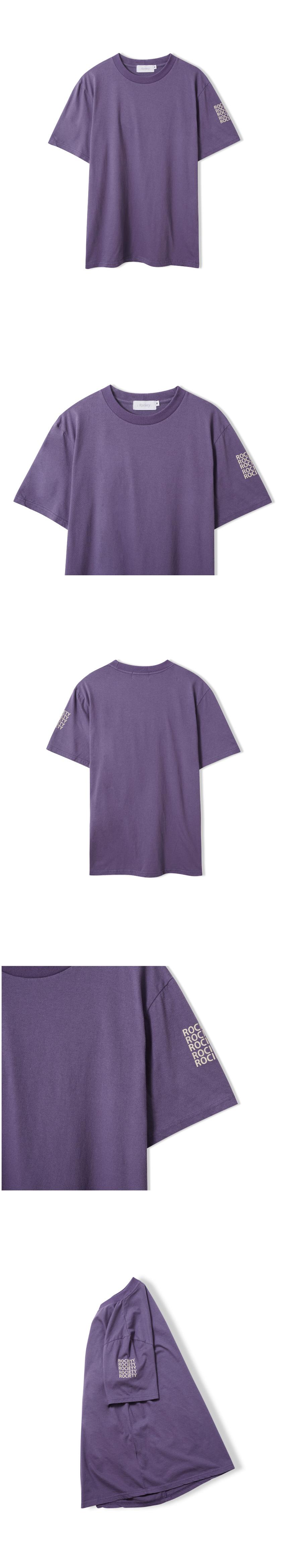 로사이어티(ROCIETY) 슬리브 로고 티셔츠