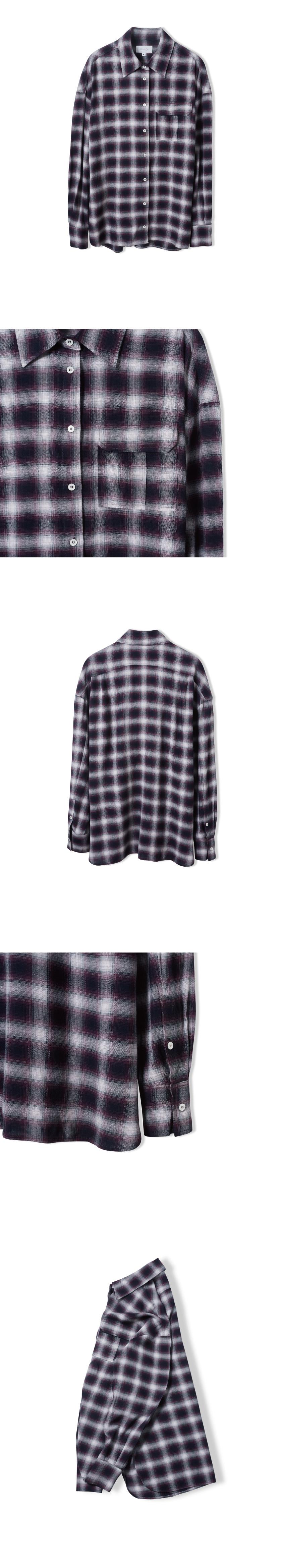 로사이어티(ROCIETY) 플란넬 드랍 셔츠