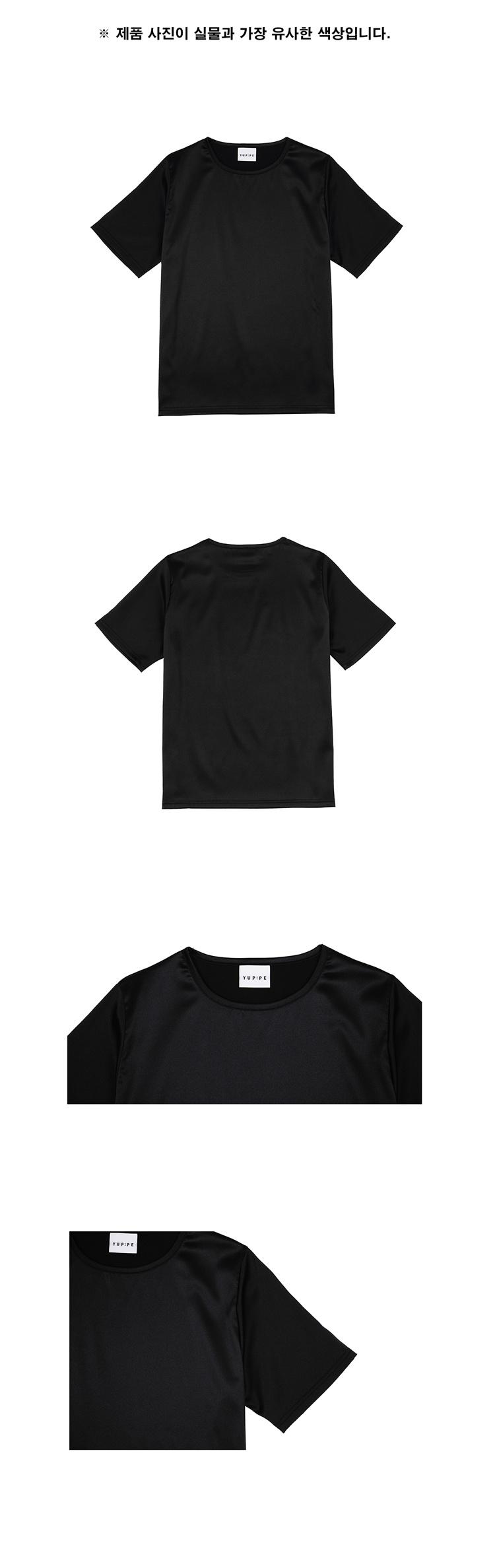 엽페(YUPPE) SILKY T-SHIRTS_BLACK