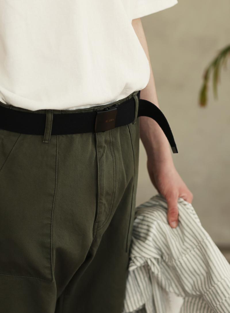 유니폼브릿지(UNIFORM BRIDGE) og logo army belt black