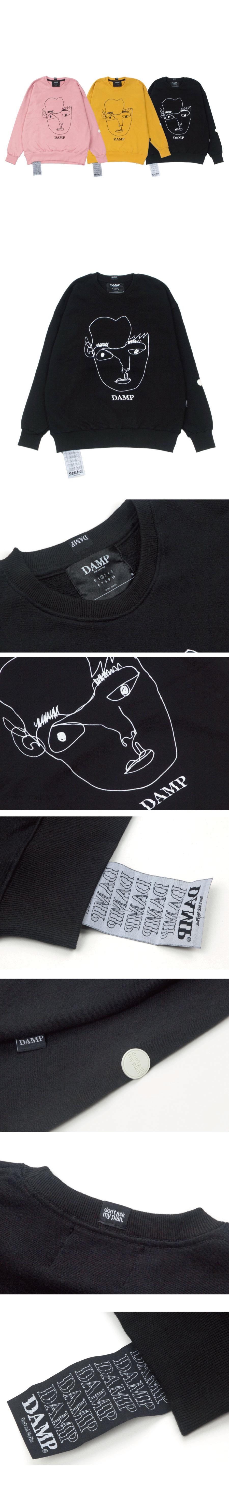돈애스크마이플랜(DAMP) THE FACE SWEAT SHIRT BLACK