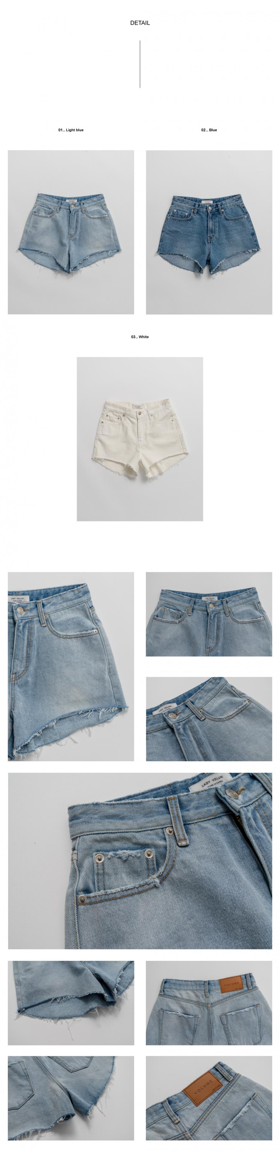 레이디 볼륨(LADY VOLUME) denim half pants_light blue