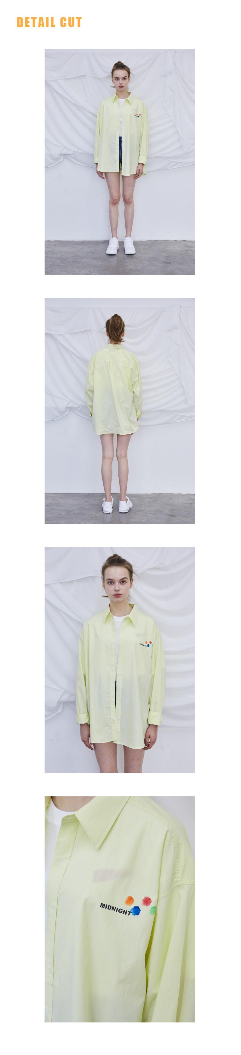 미드나잇 무브(MIDNIGHT MOVE) [unisex] 로고 셔츠 (light yellow)