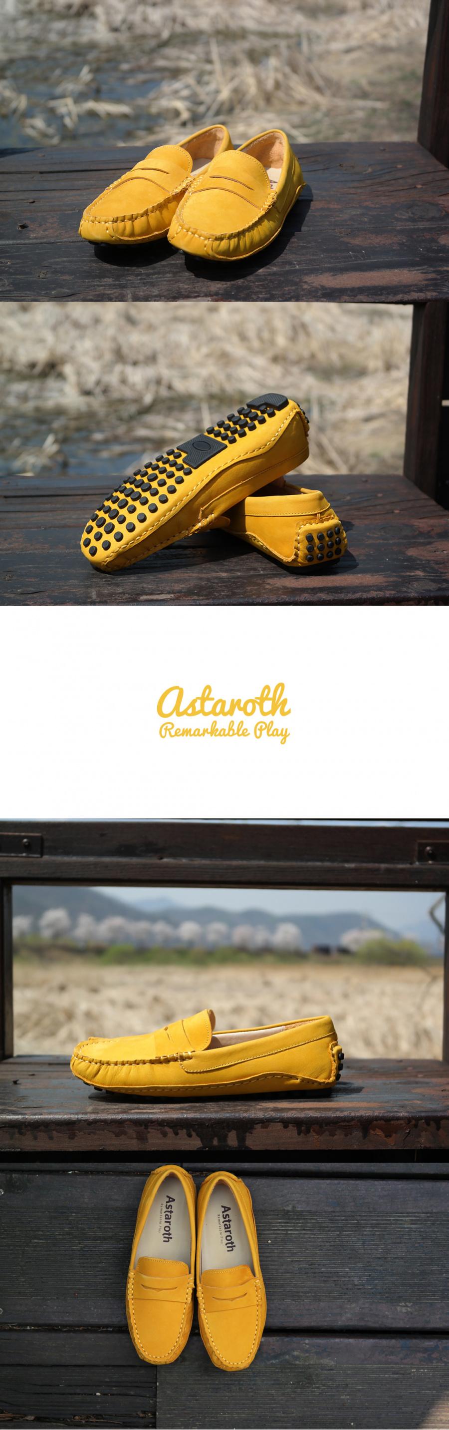 아스타로스(ASTAROTH) 누벅스킨 드라이빙슈즈 204NB45