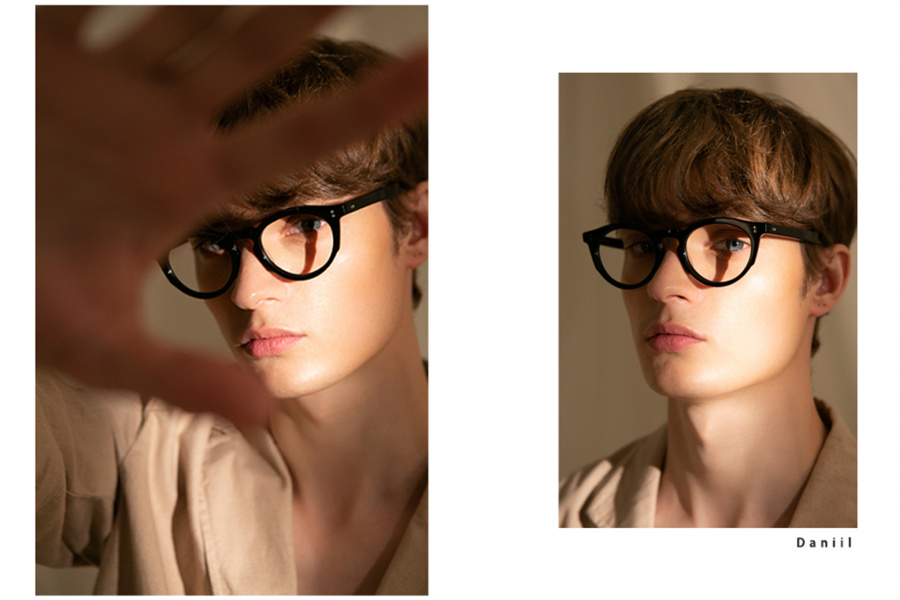 세미콜론 아이웨어(SEMICOLON EYEWEAR) 파르셀 블랙 아세테이트 Glasses