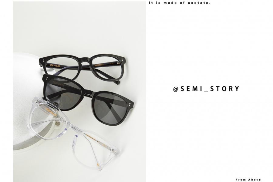 세미콜론 아이웨어(SEMICOLON EYEWEAR) T-1 블랙  아세테이트 Glasses