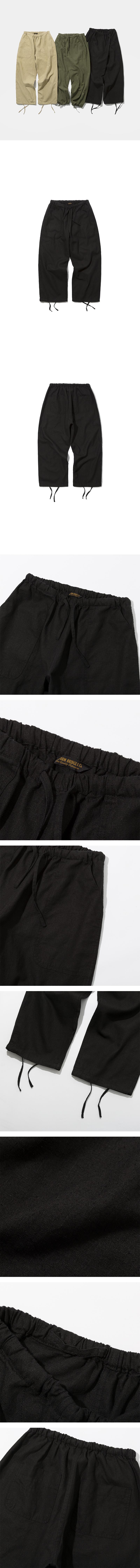 유니폼브릿지(UNIFORM BRIDGE) 19ss linen balloon pants black