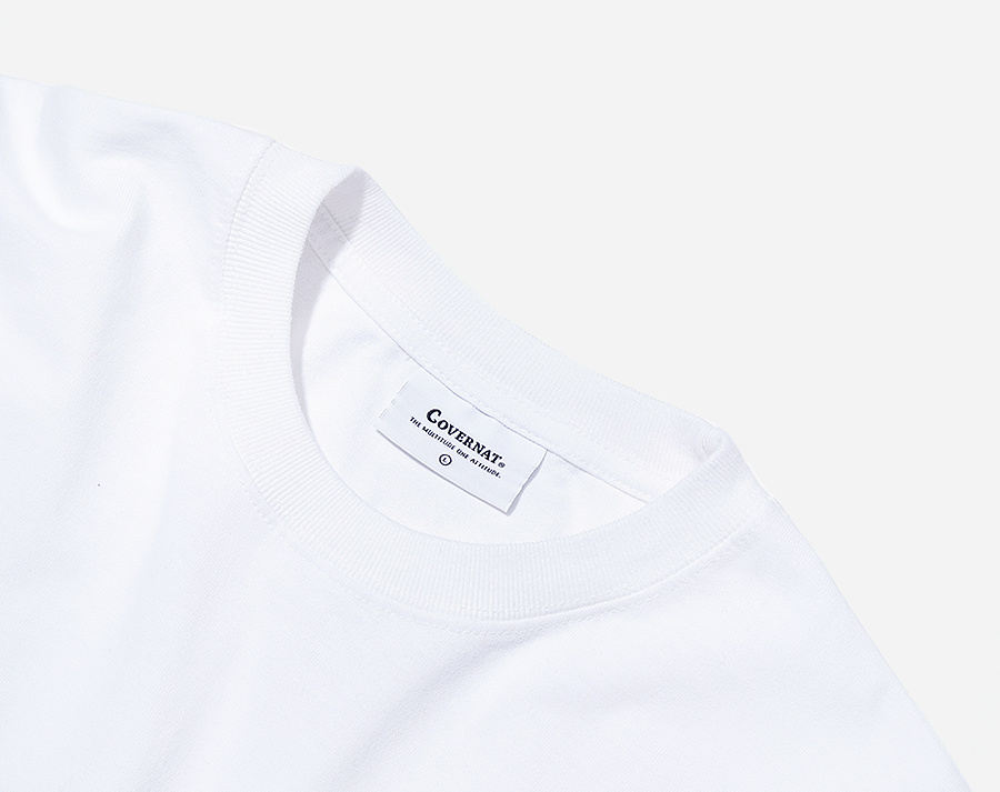 커버낫(COVERNAT) S/S OVER FIT SURFER MAN TEE WHITE