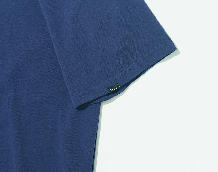 커버낫(COVERNAT) S/S SMALL AUTHENTIC LOGO TEE DARK BLUE
