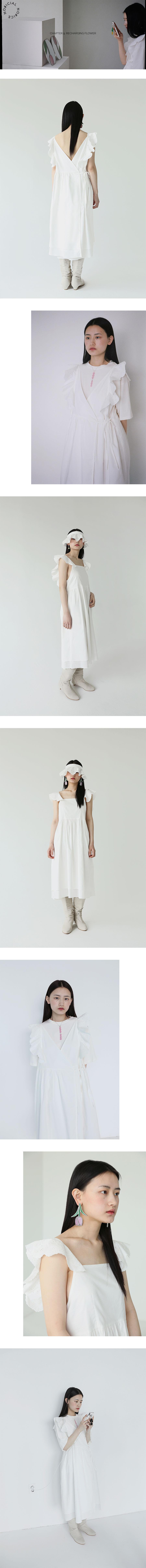 노피셜노피스(NOFFICIALNOFFICE) 투 웨이 레이스 프릴 드레스