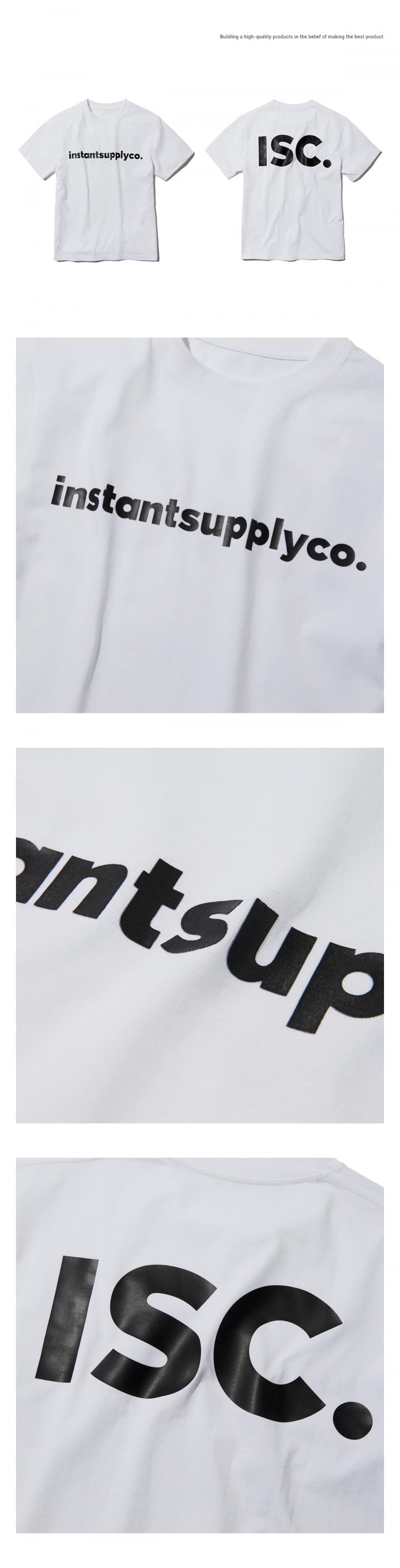 인스턴트서플라이(INSTANTSUPPLYCO.) ISC basic logo T-shirt [white]