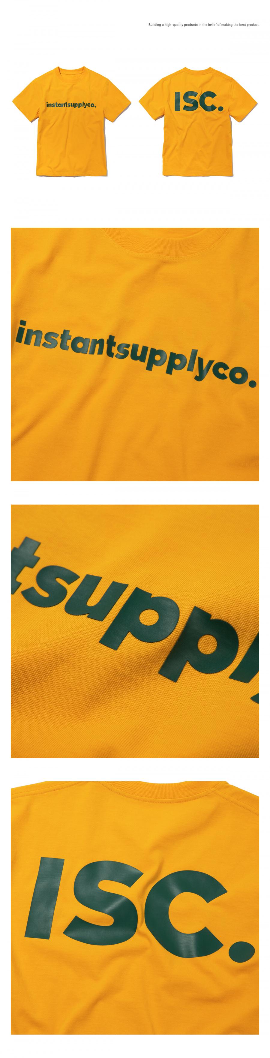 인스턴트서플라이(INSTANTSUPPLYCO.) ISC basic logo T-shirt [orange]