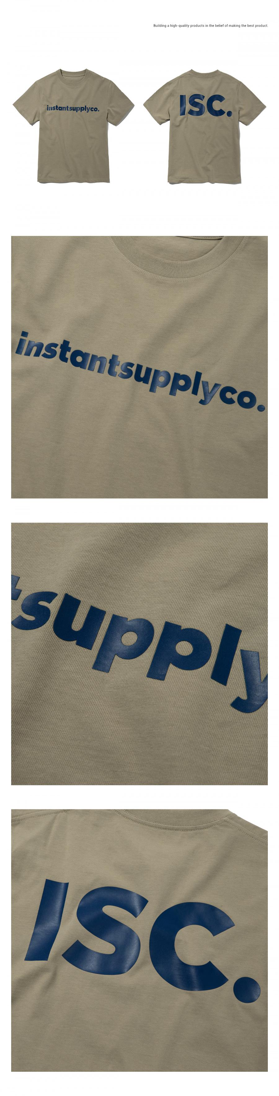 인스턴트서플라이(INSTANTSUPPLYCO.) ISC basic logo T-shirt [beige]