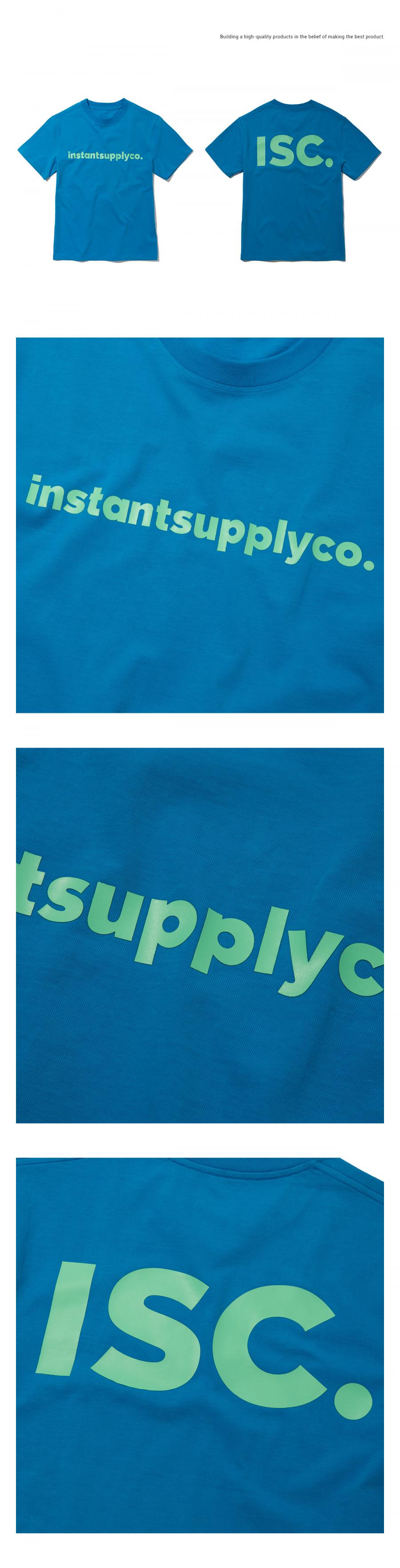 인스턴트서플라이(INSTANTSUPPLYCO.) ISC basic logo T-shirt [blue]
