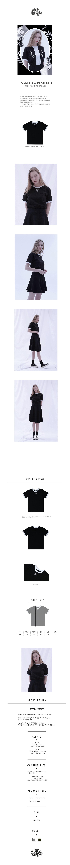 내로우마인드(NARROWMIND) 나르시서스 블랙 자수 티셔츠