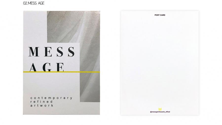 메시지인더삭스(MESSAGE IN THE SOCKS) [5개 선택] MITS 감성 엽서 11종