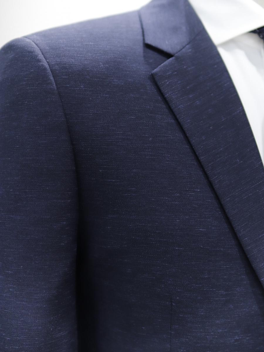 본(BON) 네이비 트로피칼 솔리드 기본 스트레치 트렌디 싱글 2버튼슈트