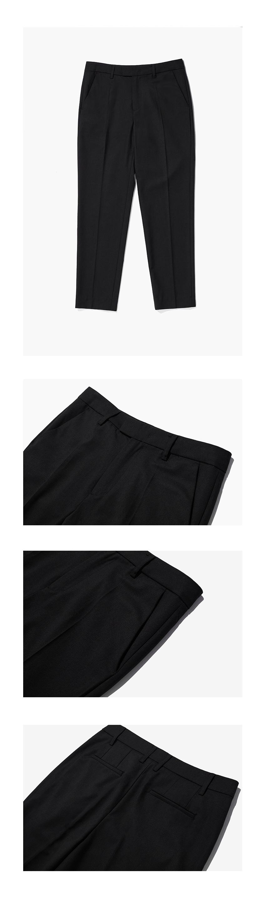 미나브(MINAV) [기획상품] 에센셜 테이퍼드 슬랙스 [블랙]