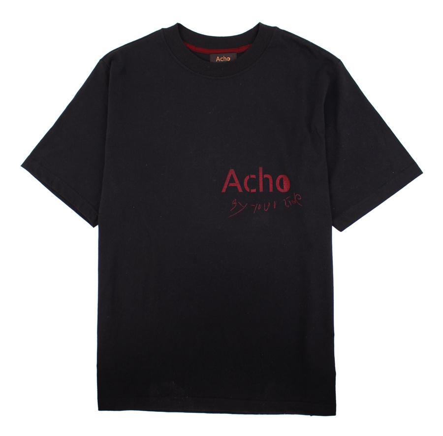 아쵸(ACHO) [유니섹스]로고 티셔츠_블랙