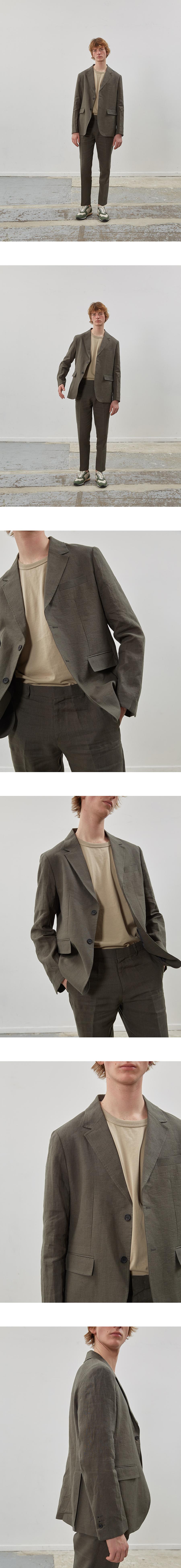 핸스(HANCE) Ete Linen Set-up Jacket(Stately Khaki)