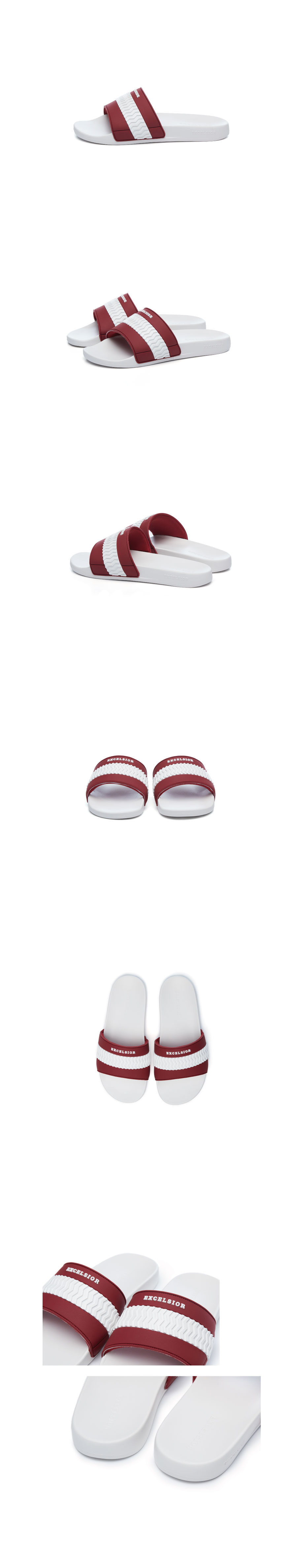 엑셀시오르(EXCELSIOR) 볼트 슬라이드 Bolt Slide_WHITE/RED
