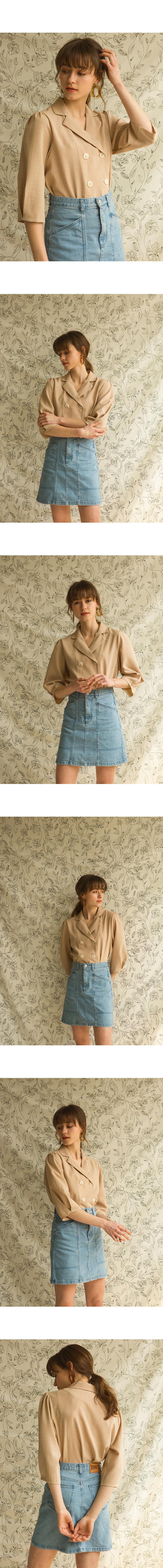 몬츠(MONTS) 924 double button check blouse