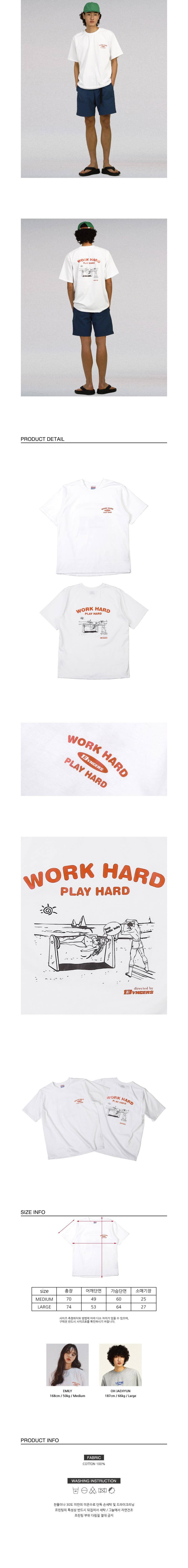 뱅어스(BANGERS) WORK HARD PLAY HARD T-SHIRT