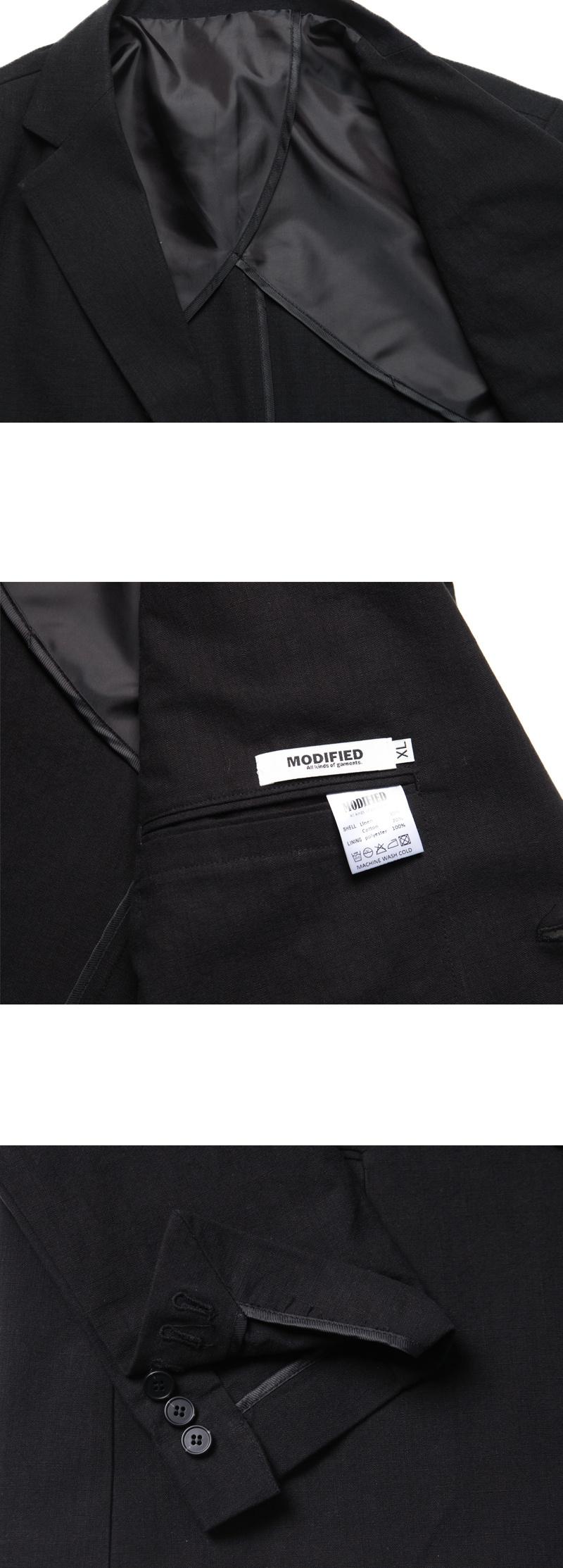 모디파이드(MODIFIED) [여름용 린넨] M#1741 summer linen blazer (black)