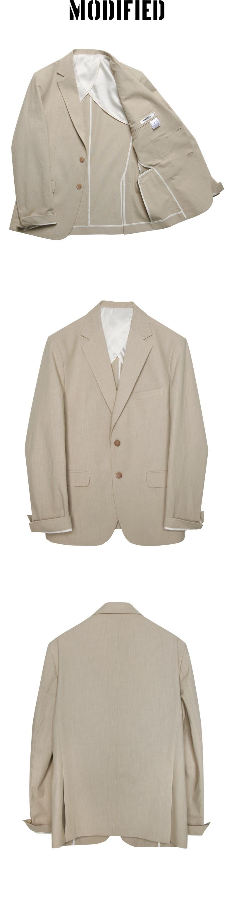모디파이드(MODIFIED) [여름용 린넨] M#1745 summer linen suit (beige)