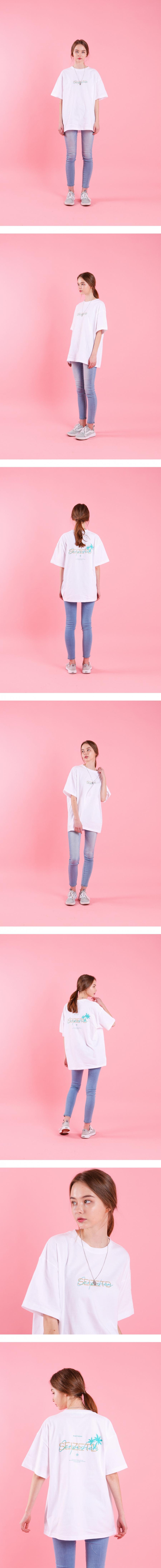 시즈더데이(SEIZETHEDAY) Palm tree  T-SHIRT White