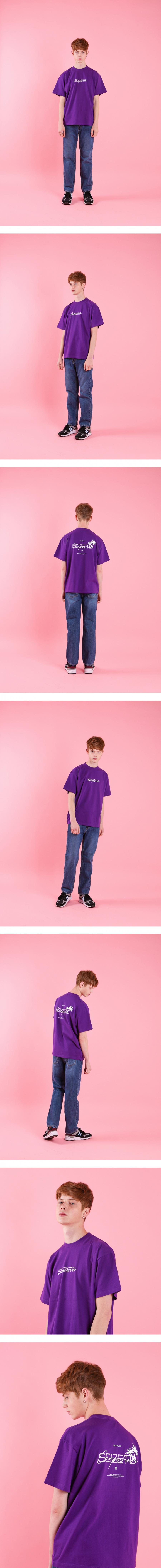 시즈더데이(SEIZETHEDAY) Palm tree  T-SHIRT Purple