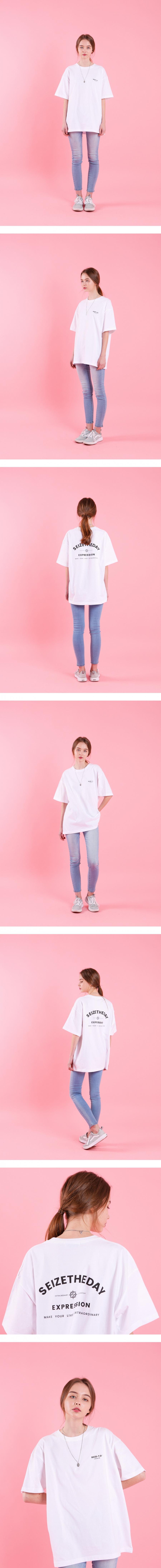 시즈더데이(SEIZETHEDAY) Expression  T-SHIRT  White