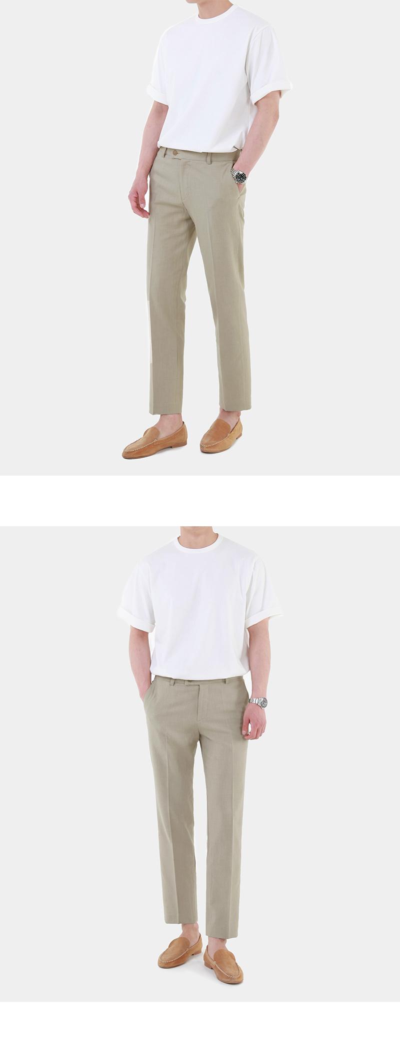모디파이드(MODIFIED) [여름용 린넨] M#1743 summer linen slacks (beige)