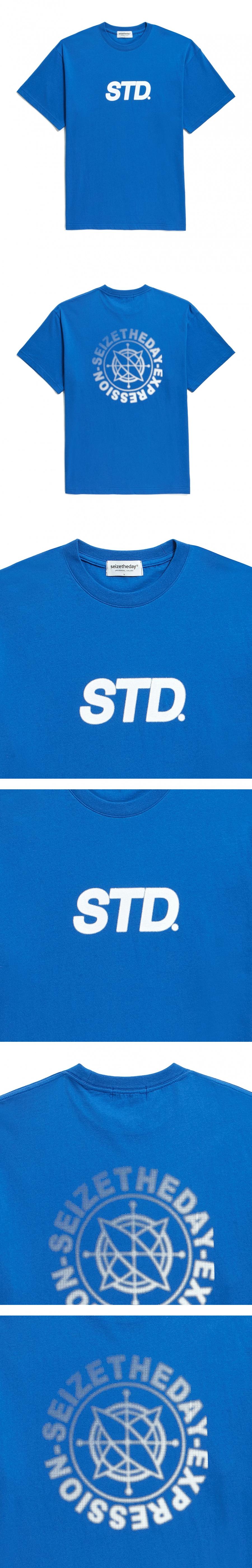 시즈더데이(SEIZETHEDAY) Halftone logo  T-SHIRT  Cobalt