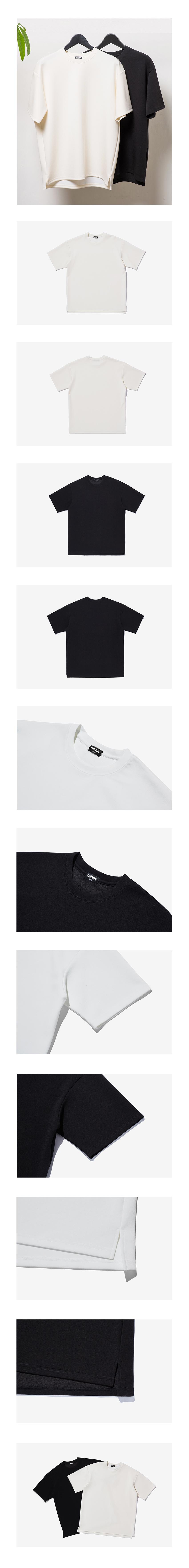 미나브(MINAV) [기획상품] 에센셜 베이직 강연 티셔츠 2color