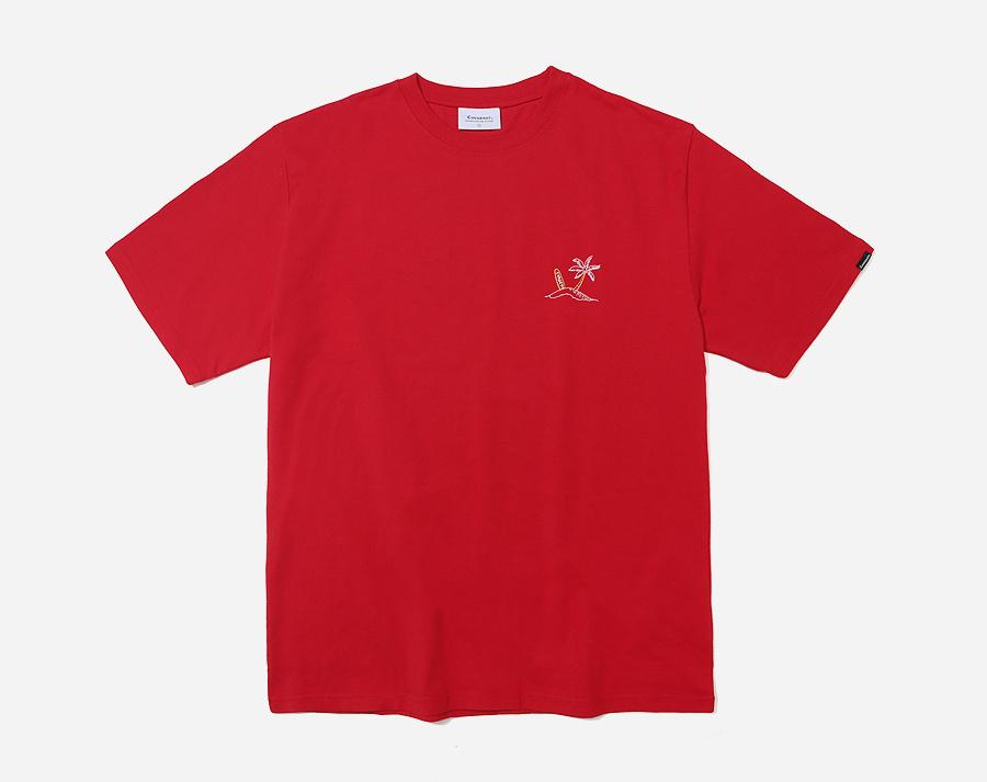 커버낫(COVERNAT) S/S SURFER MAN TEE RED