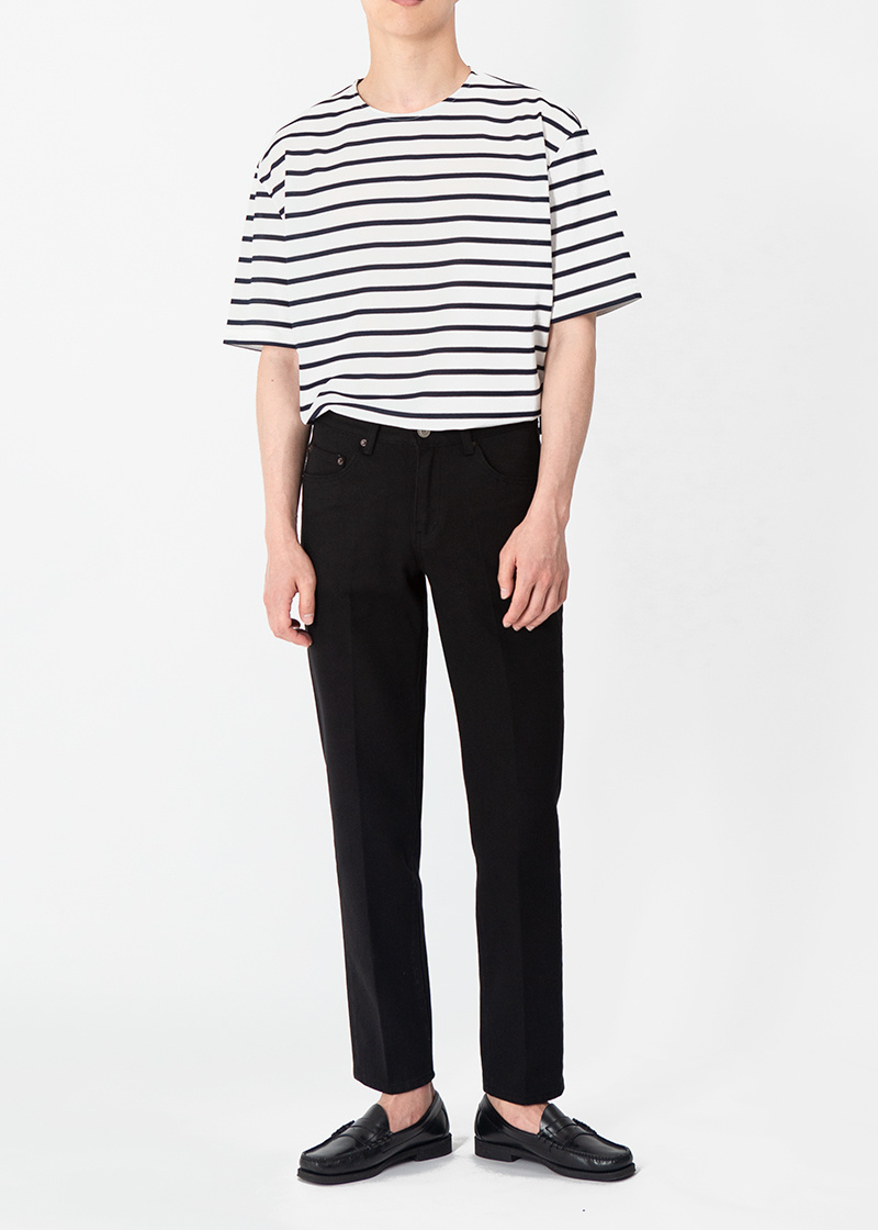 브랜디드(BRANDED) 1941 OBJECT BLACK JEANS [CROP STRAIGHT]