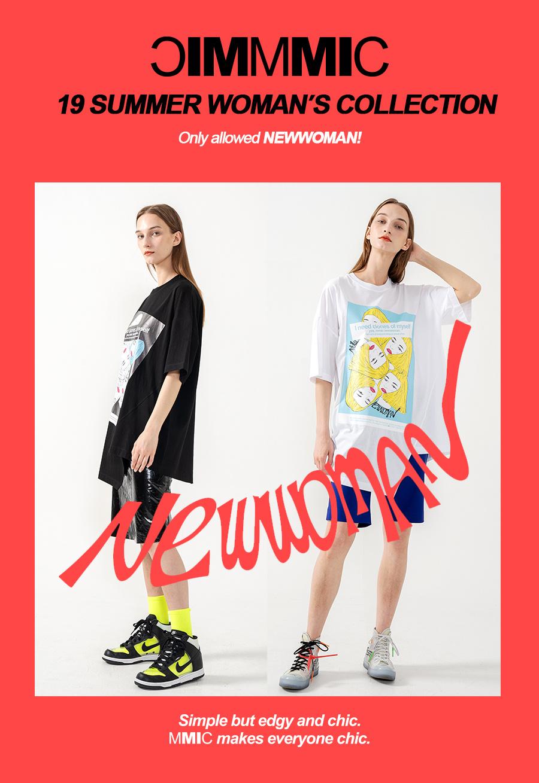 엠엠아이씨(MMIC) BOXY CUT&SAW T-SHIRTS