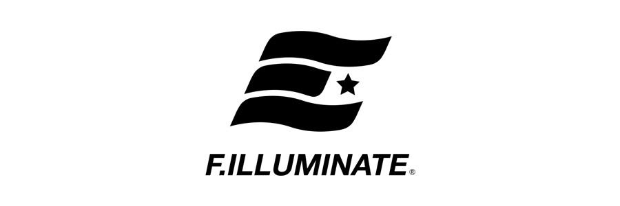 필루미네이트(FILLUMINATE) 유니섹스 오버핏 프리즘 로고 티-블랙
